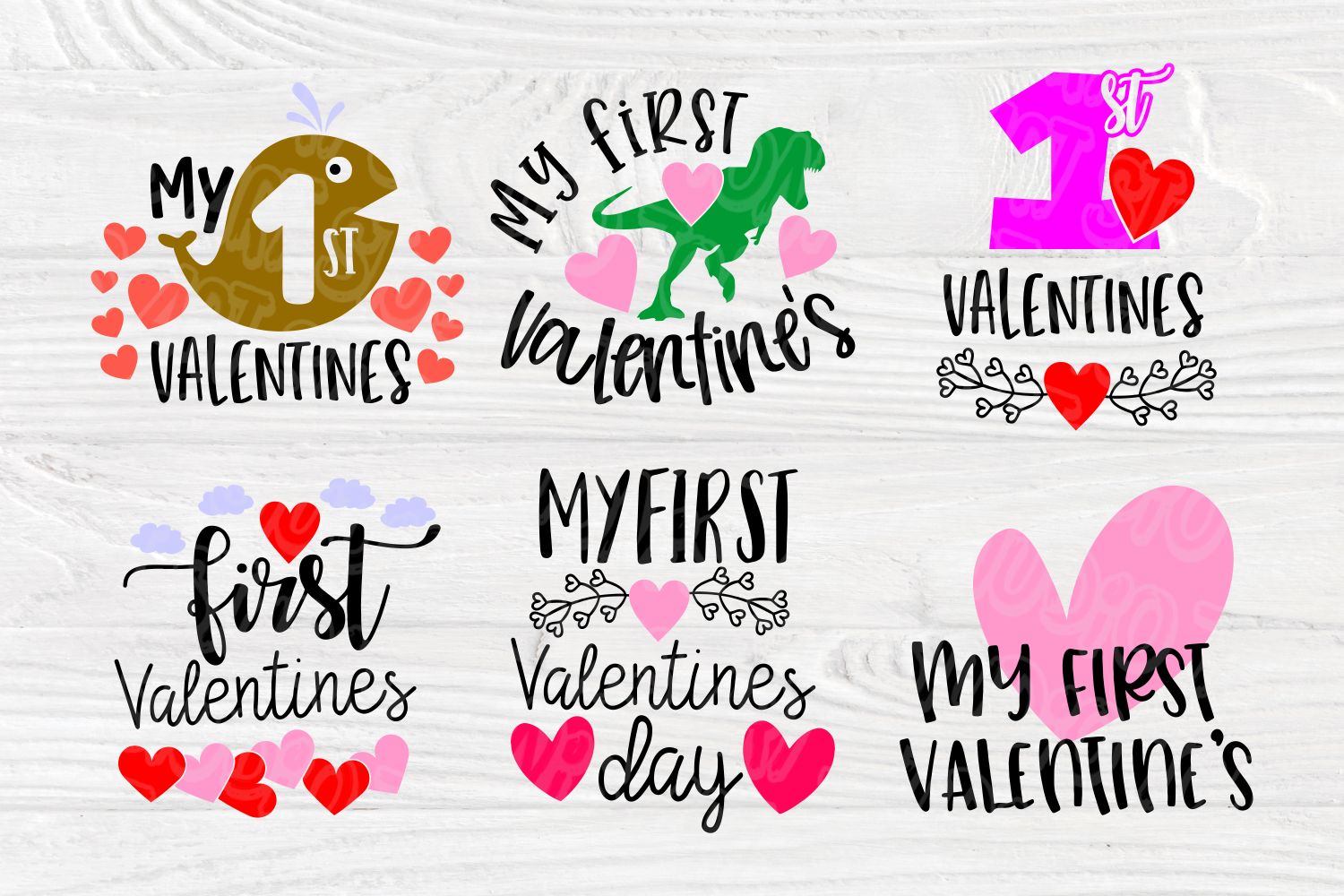 My First Valentine's Day | SVG Bundle | Valentines Quotes example image 5