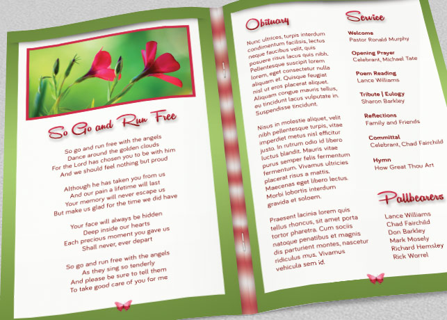 Child Funeral Program Template example image 3
