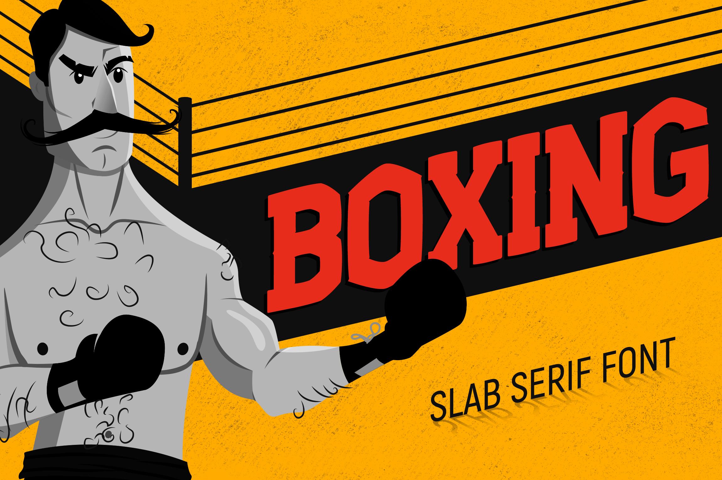 Boxing - Slab Serif Font example image 1