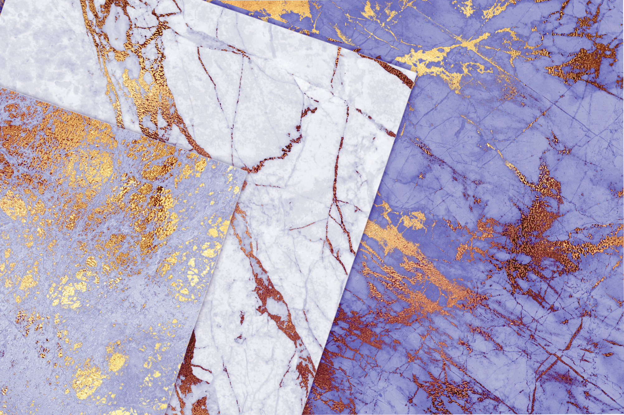 Purple and Gold Marble Textures example image 2