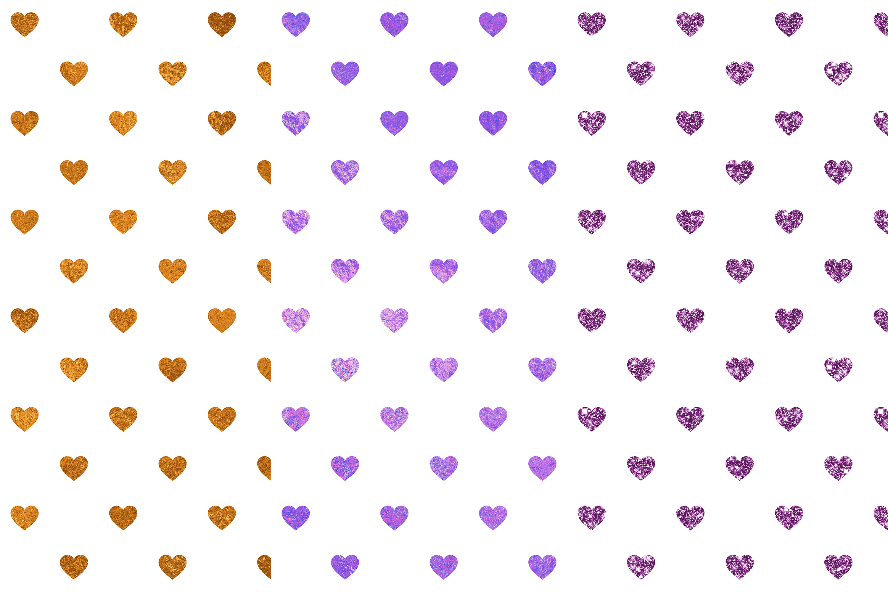 Heart Digital Papers, Heart Seamless Patterns example image 2