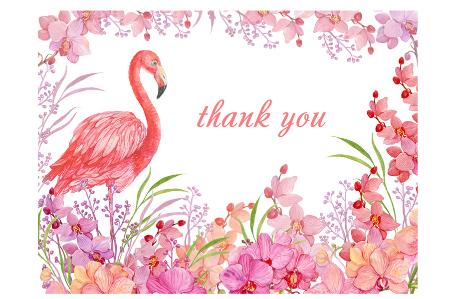 Flamingo seamless patterns example image 7