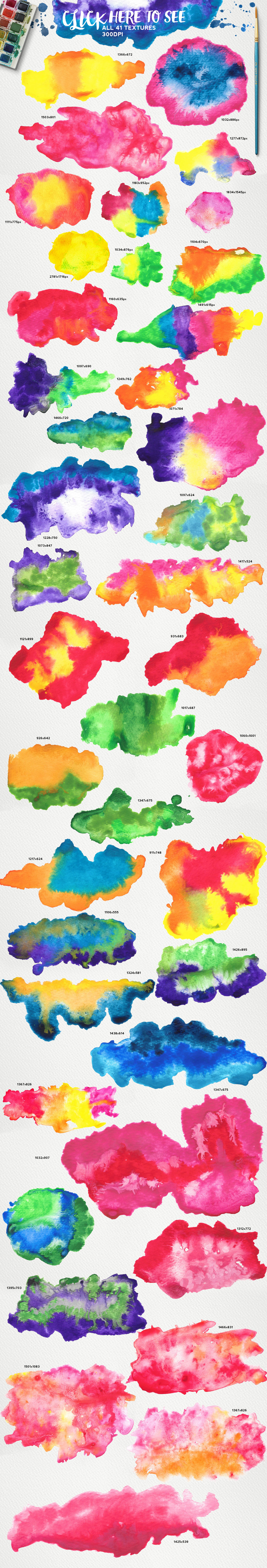Watercolor KIT for Illustrator example image 2