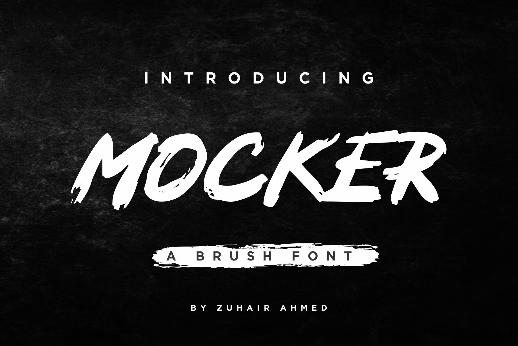 Mocker - A Brush Font example image 1