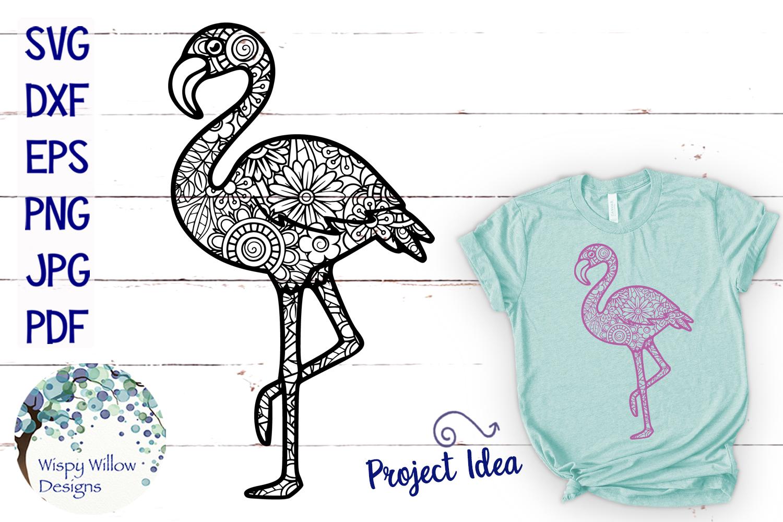 Flamingo Zentangle SVG example image 1