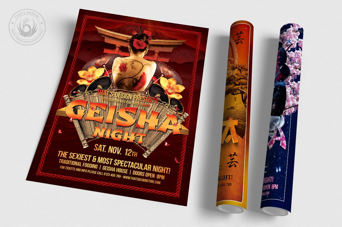 Geisha Night Flyer Bundle example image 3