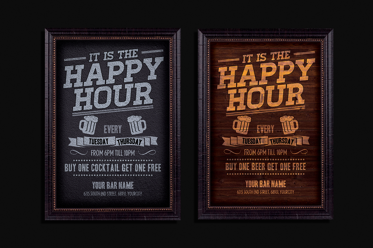 Happy Hour Flyer Template example image 1