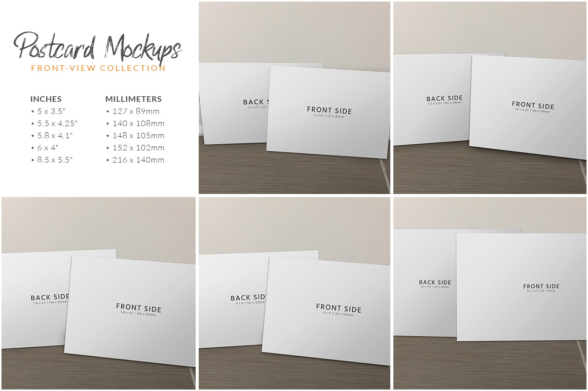 Postcard Mockup Bundle example image 7