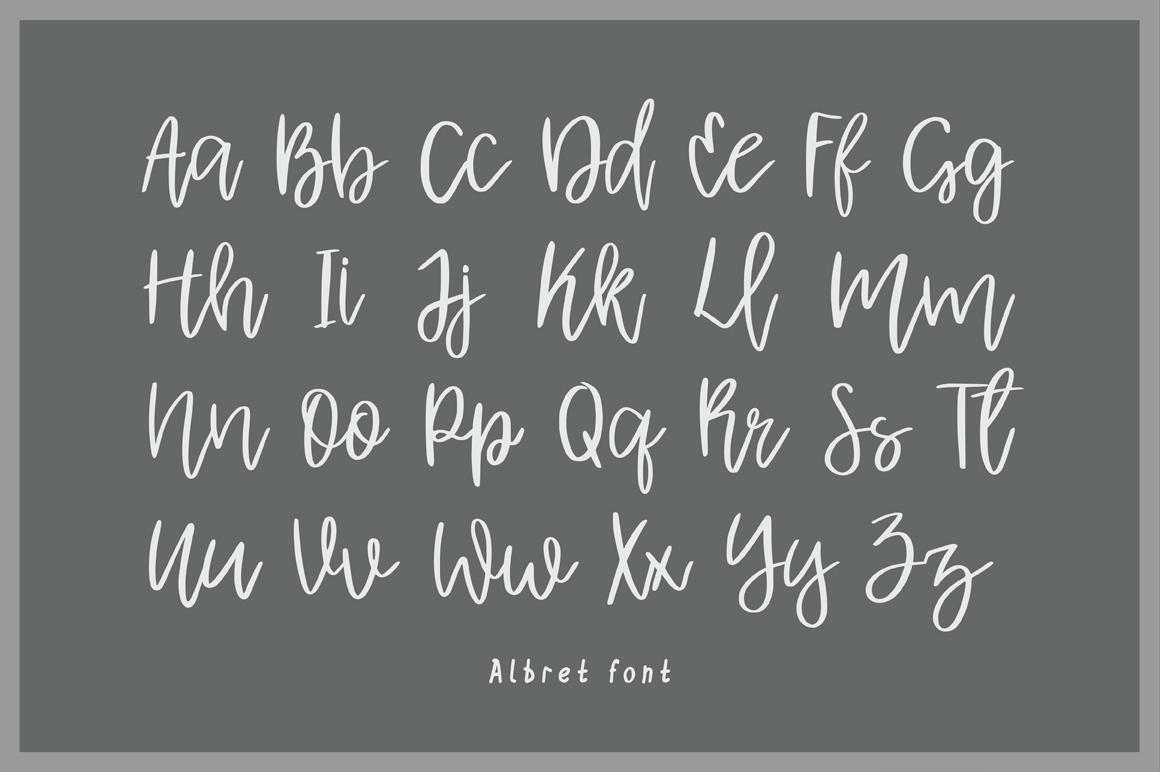 Albret || Multilingual Handwritten Script Font example image 2