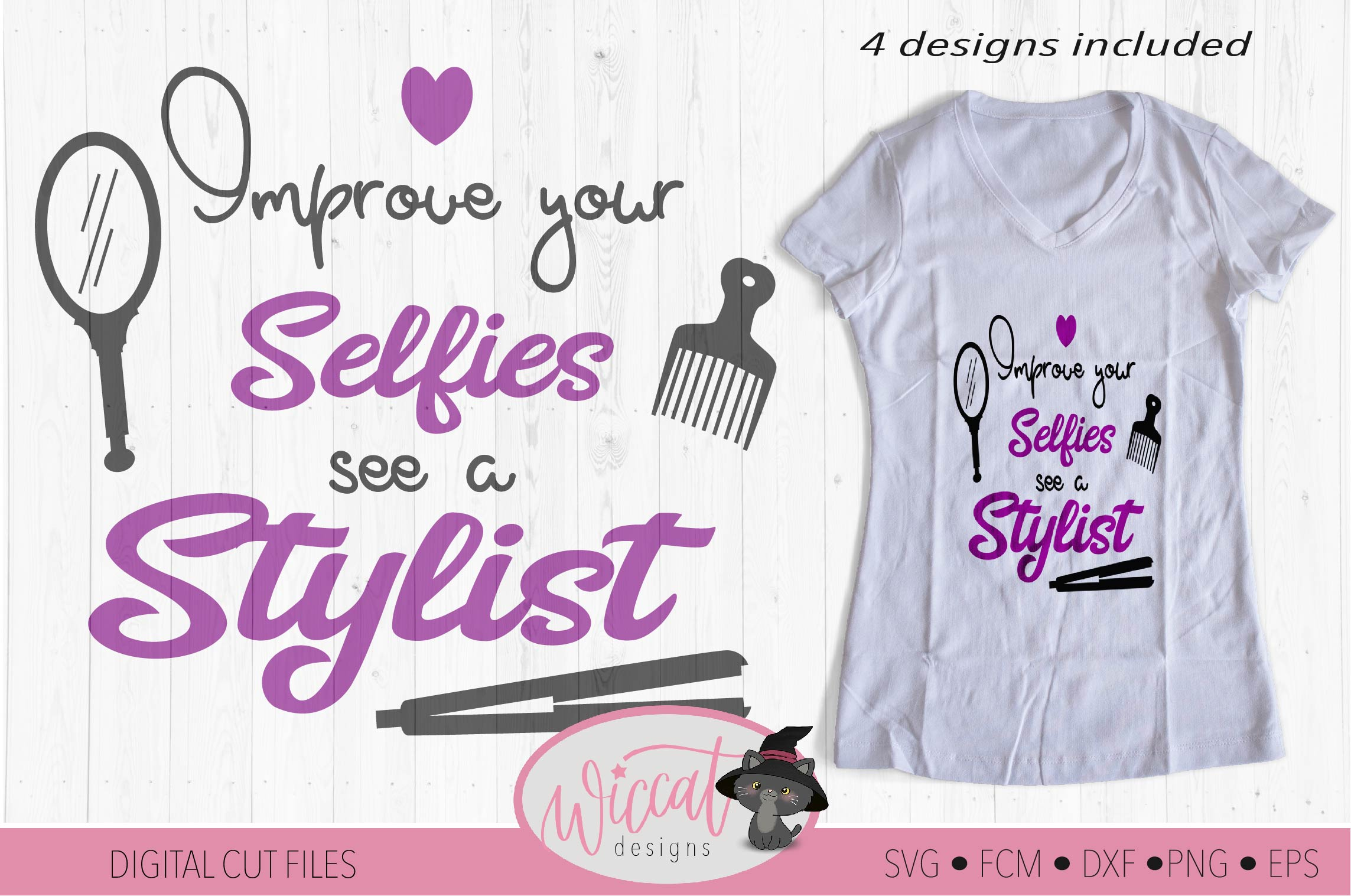 Hairstylist quote bundle, Hairdresser pun, Stylist word art example image 2