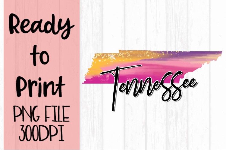 Tennessee Painted States Ready to Print example image 1