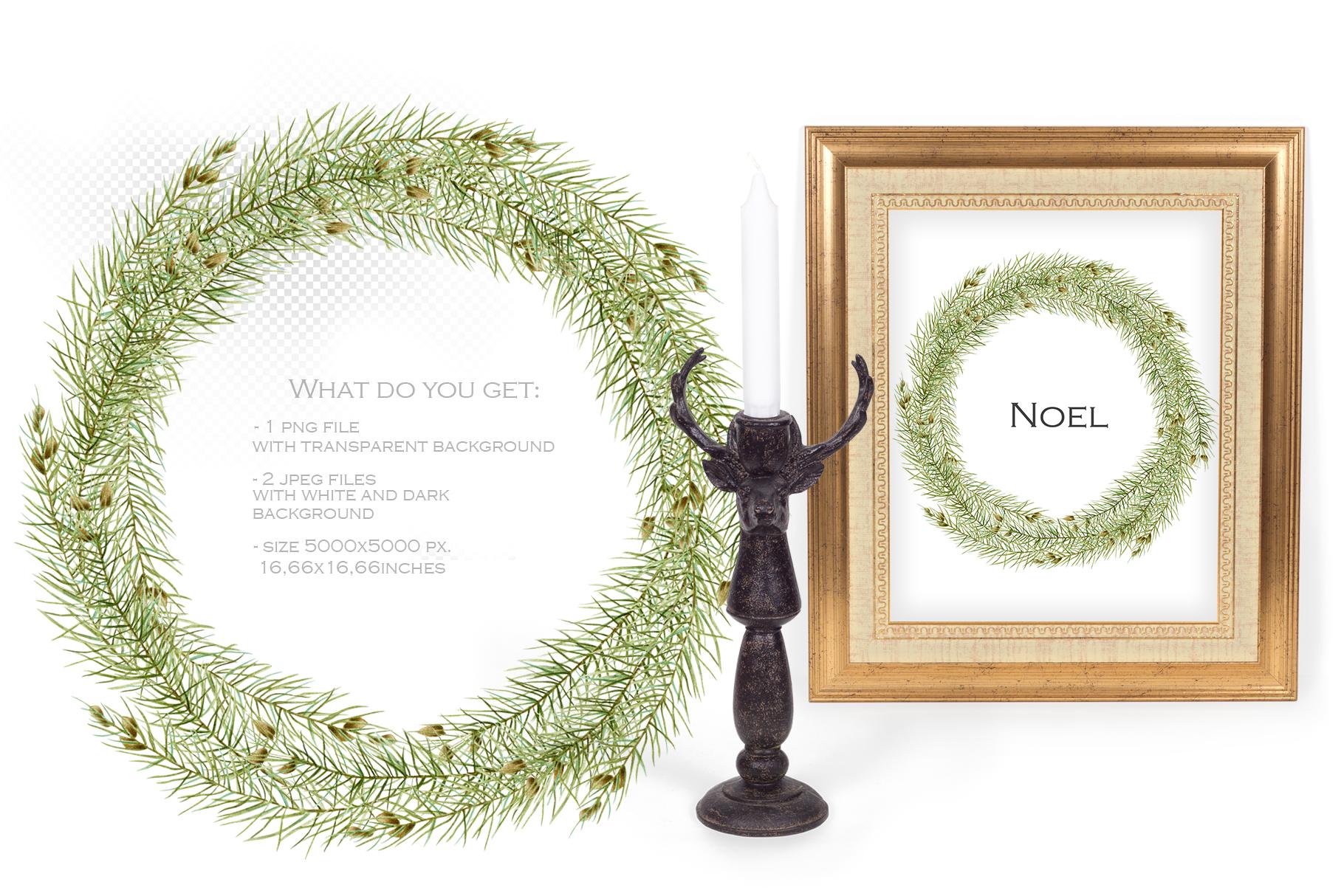 Perfect Christmas. Wreath #4 example image 2