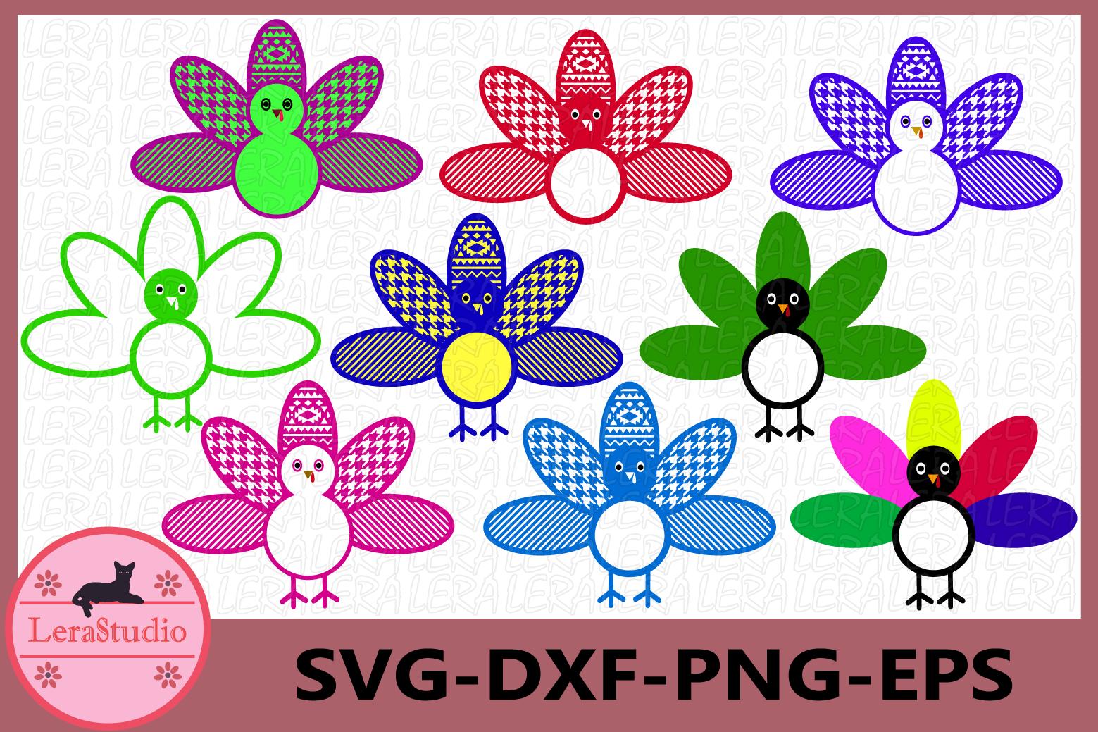 Turkey SVG, Turkey Monogram svg, Thanksgiving svg example image 1