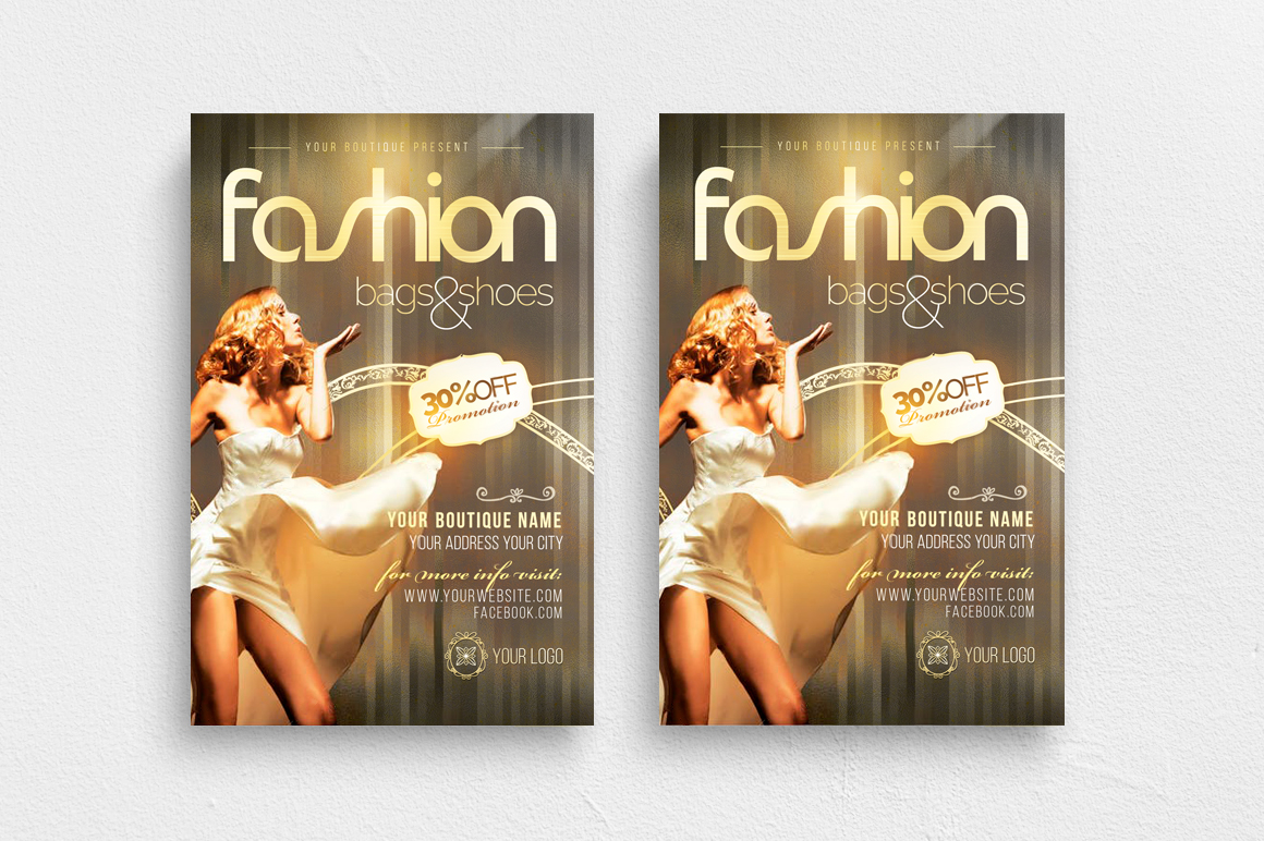 Fashion New Collection Photoshop Flyer Template example image 1