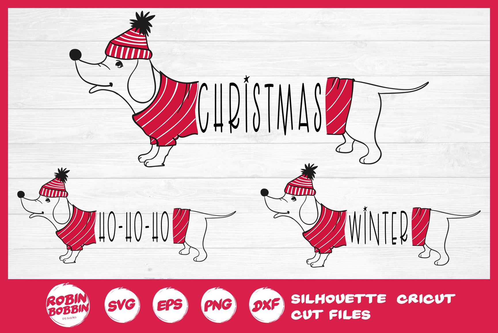 Christmas SVG - Funny Christmas Dog SVG- Dachshund Dog SVG example image 2