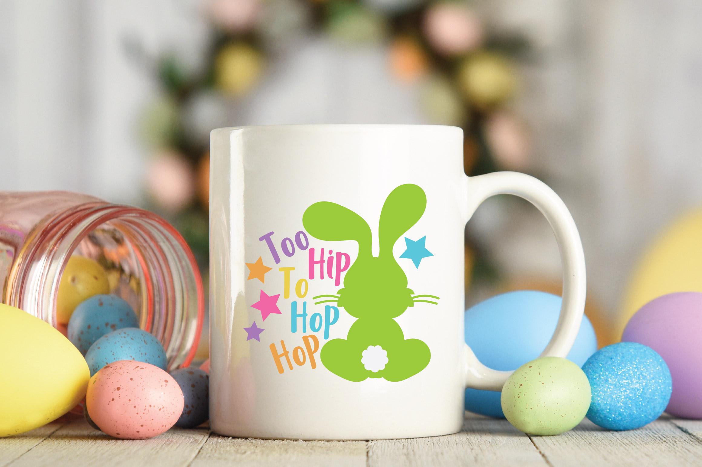 Easter SVG Cut File - Too Hip to Hop Hop SVG DXF EPS PNG JPG example image 4