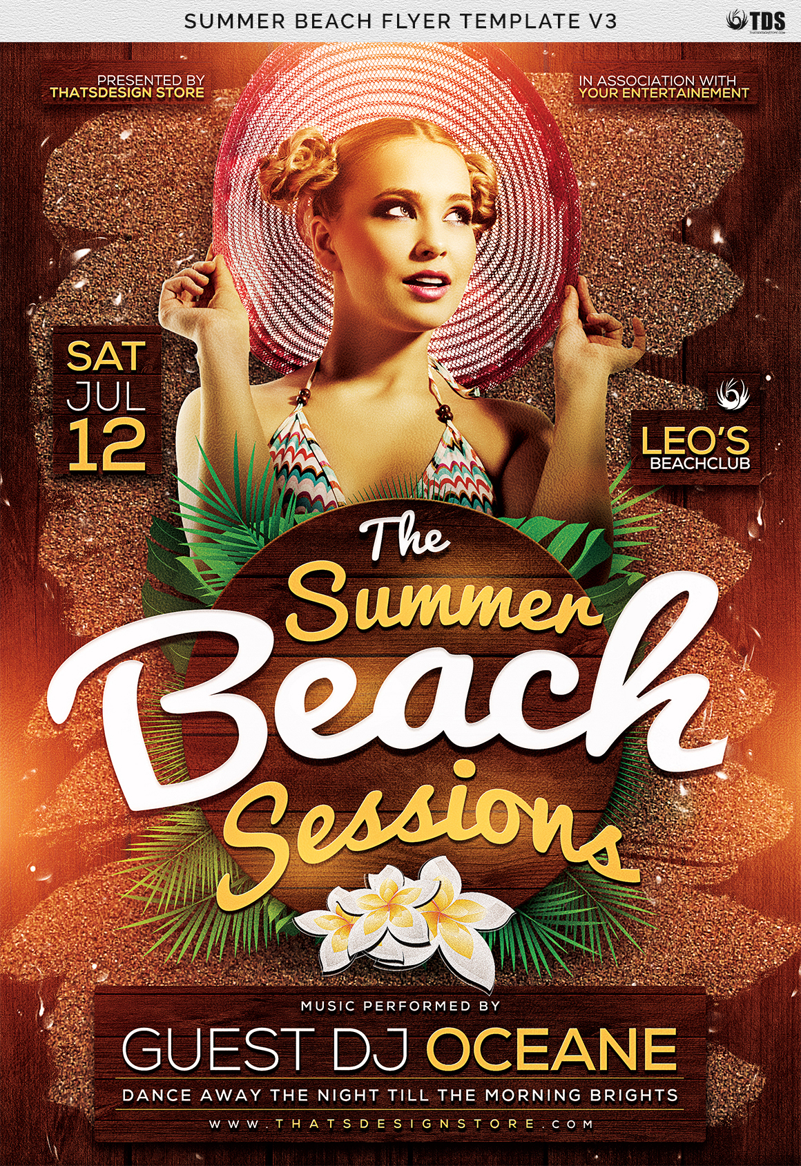 Summer Beach Flyer Template V3 example image 7