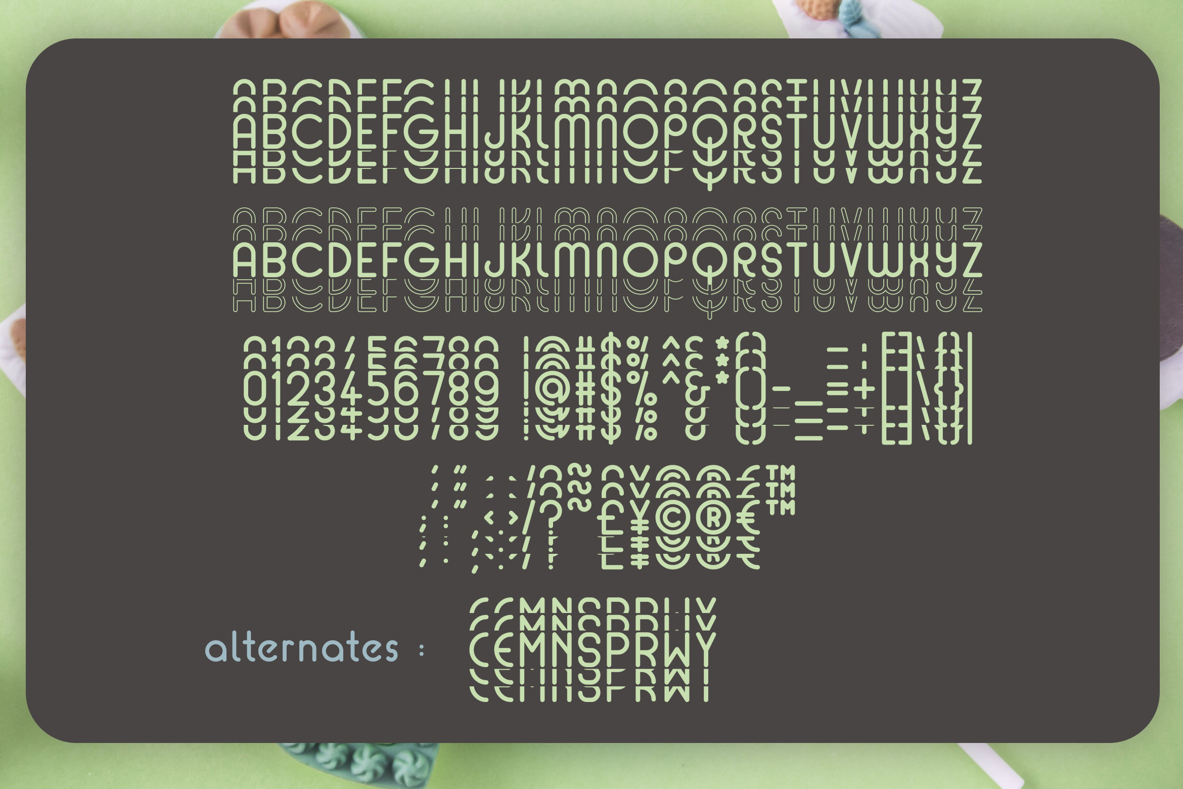 Mint Round - Stacked - Mirrored Font example image 3