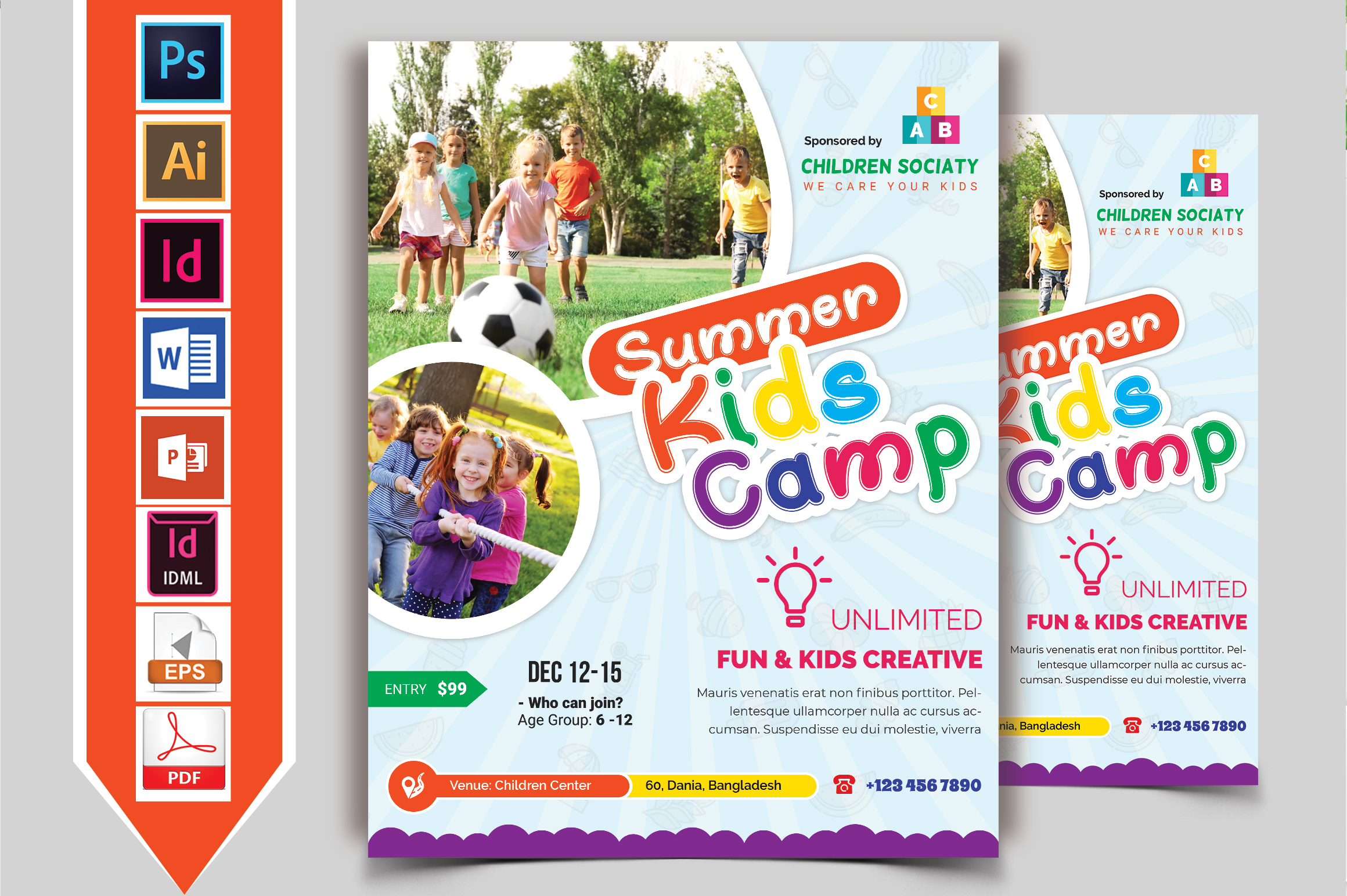 Kids Summer Camp Flyer Vol-10 example image 2