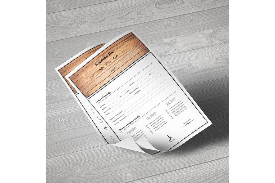 Registration Form Template v1 example image 2