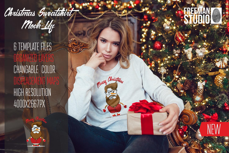 Christmas Sweatshirt Mock-Up example image 1