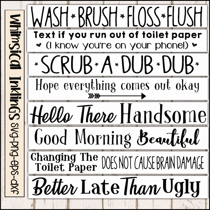 Terrific Bathroom Rules Sign Svg Bundle Interior Design Ideas Ghosoteloinfo