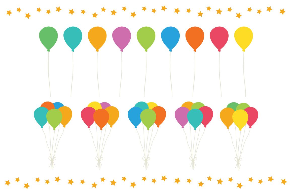 Happy Birthday Party Clip Art Set example image 9