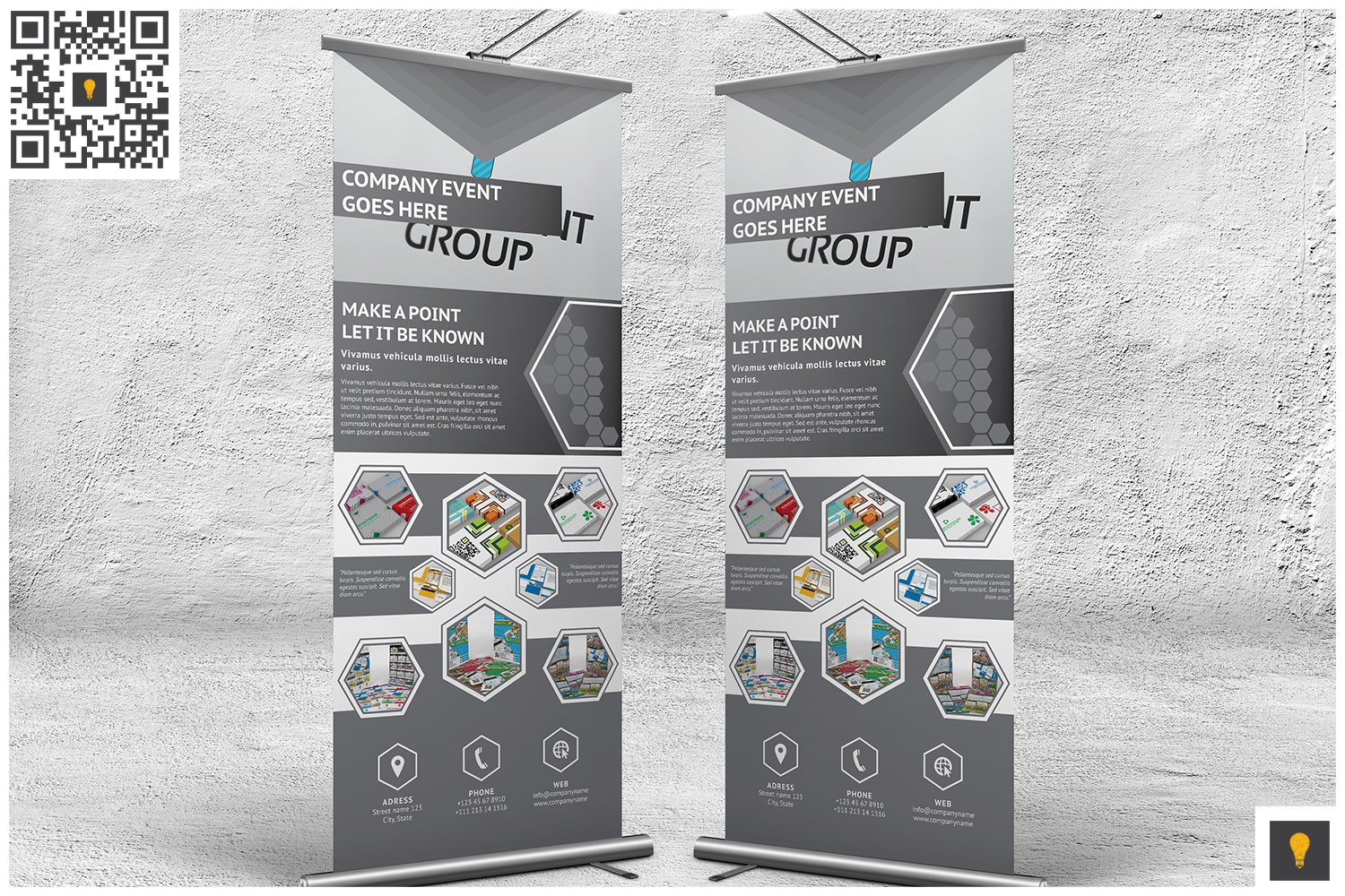 Professional Corporate Hive Roll-Up Banner example image 3