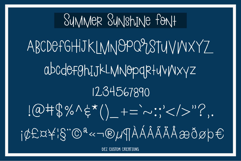 Summer Sunshine Hand Lettered Font  example image 10
