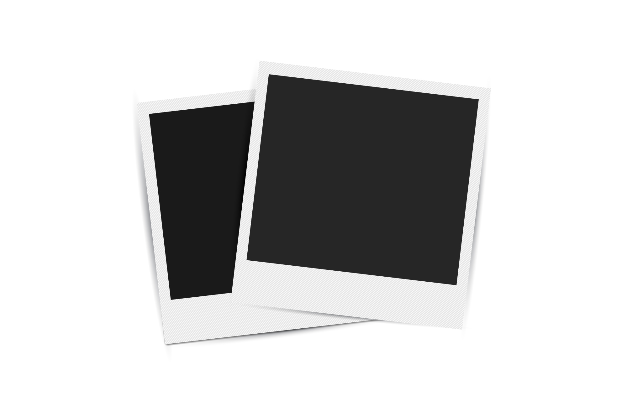 Collection of retro photo frames. example image 4