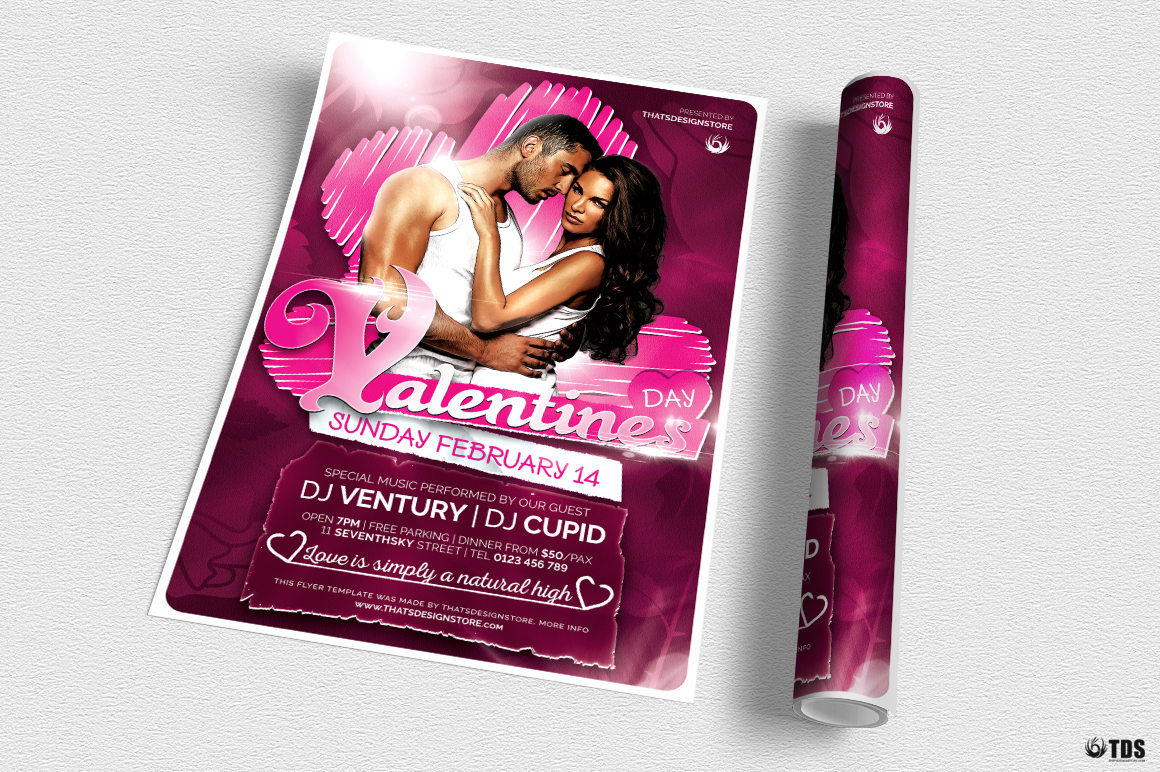 Valentines Day Flyer Template V7 example image 3