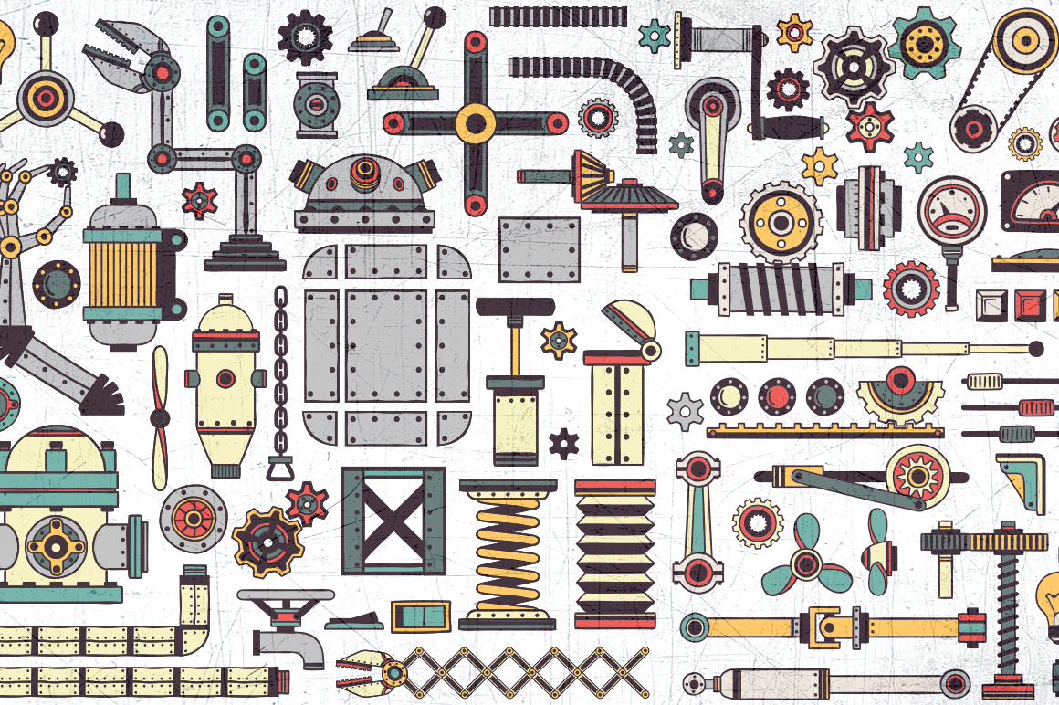 Steampunk machine parts bundle example image 2