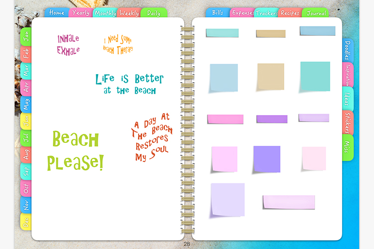 Digital Planner Beach Days example image 6