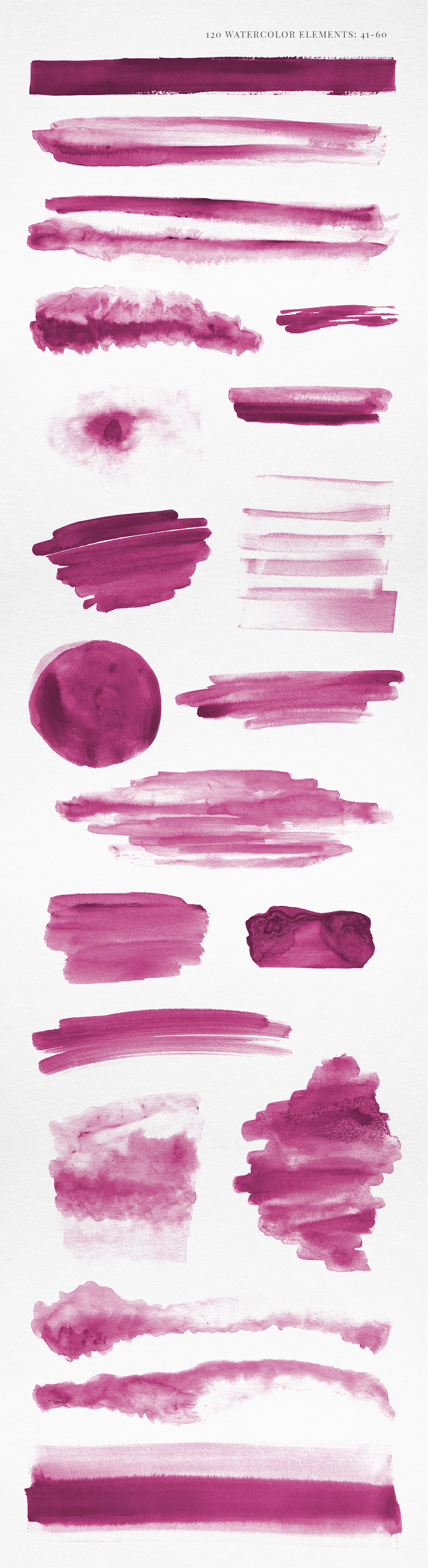 120 Pink Watercolor Texture Elements example image 4