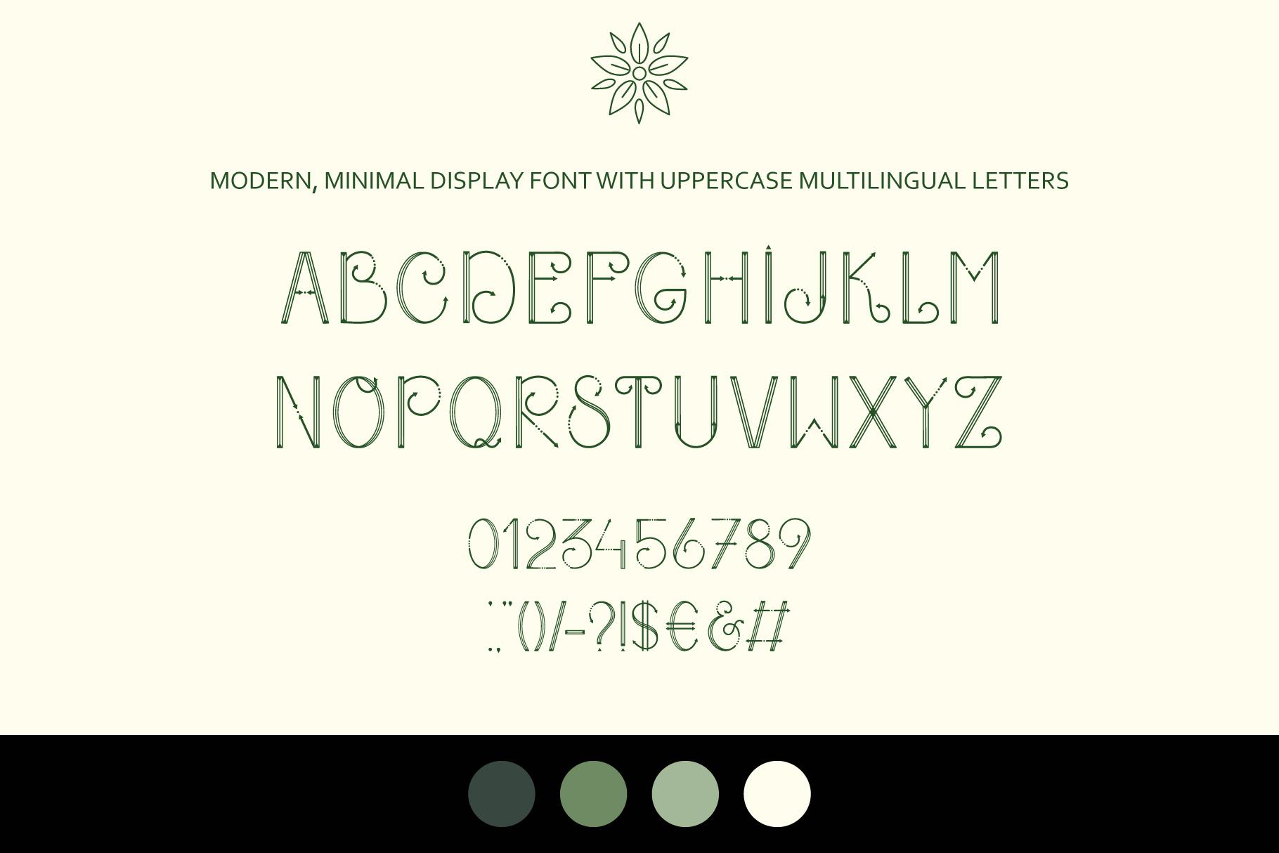 Heather - uppercase font example image 2