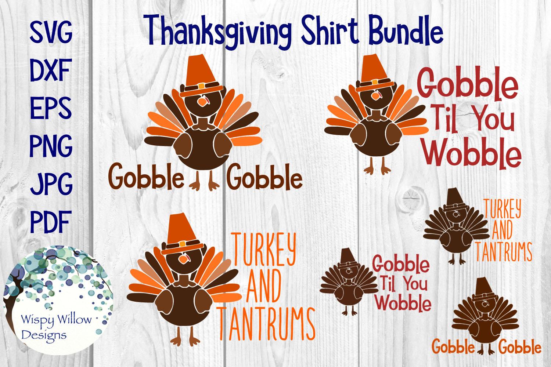 Thanksgiving Turkey Shirt Bundle | Fall | Autumn | SVG example image 1