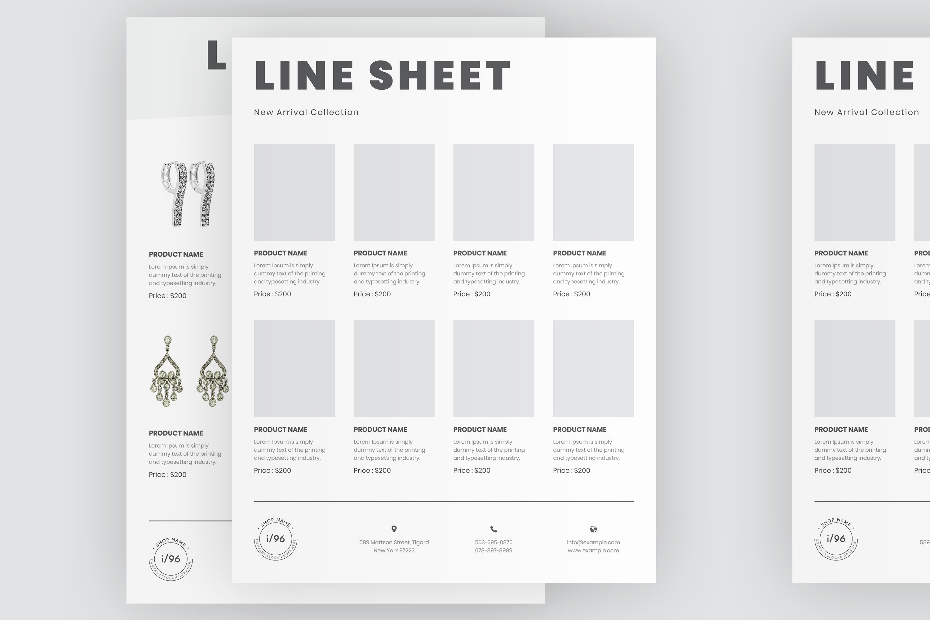 Product Sale Line Sheet Flyer Template example image 5