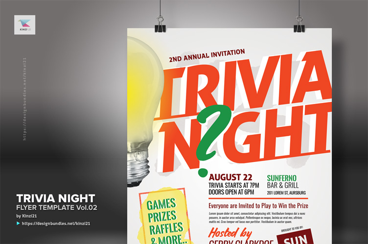 Trivia Night Flyer Template vol.02 example image 3