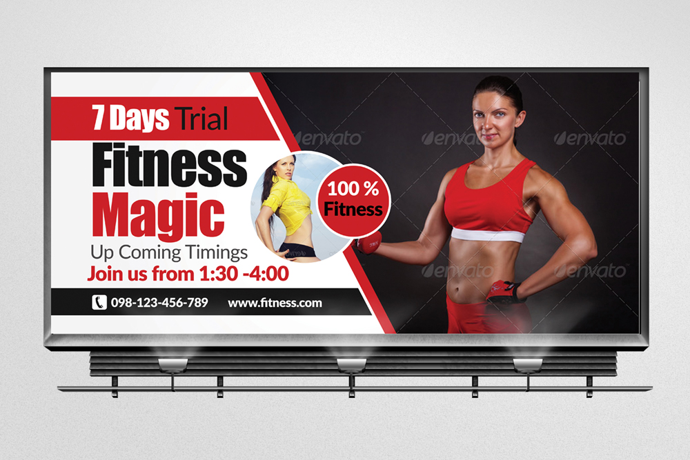 Body Fitness Billboard Banners example image 1