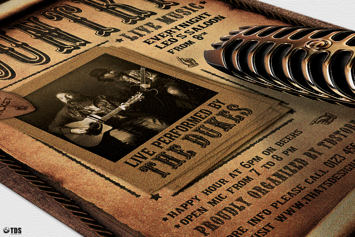 Country Live Flyer Template V5 example image 6