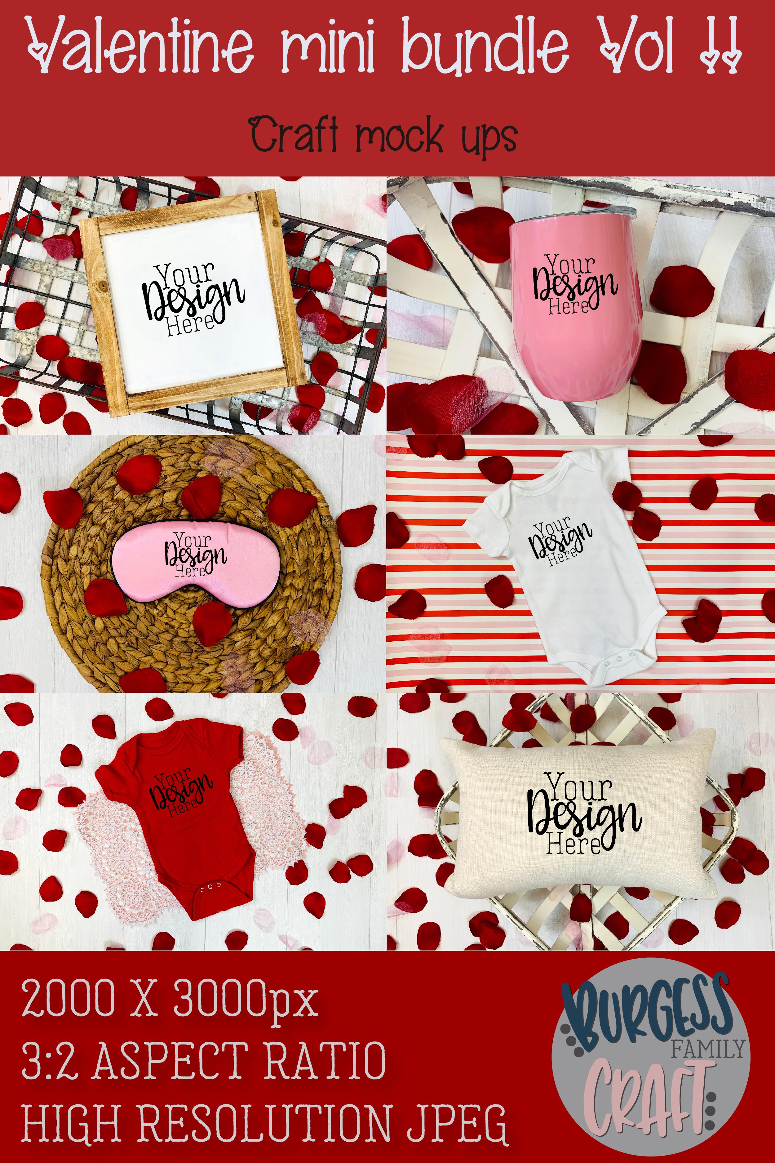 Valentine Mini Bundle Vol II | Craft mock up example image 8