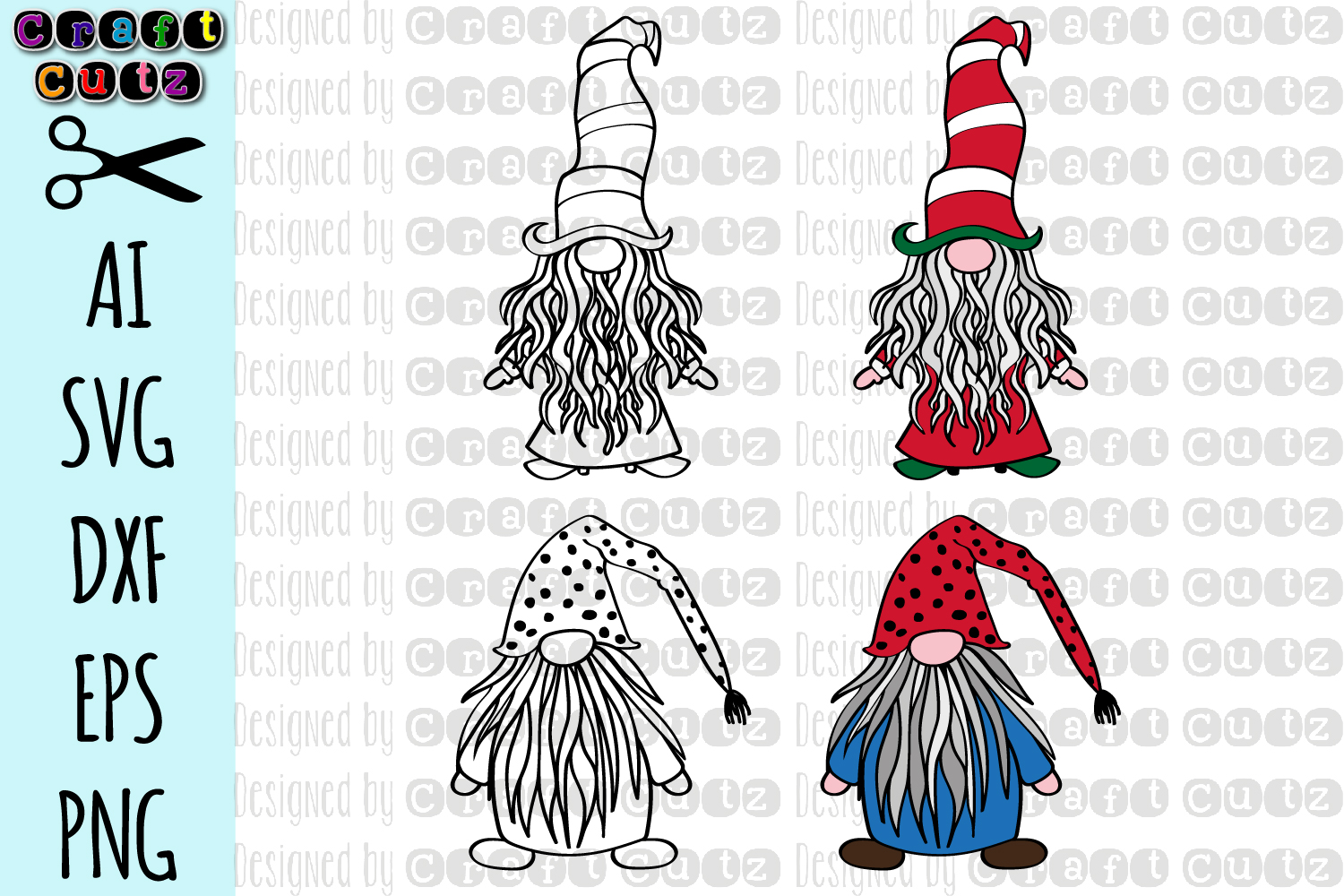 Cute Gnome SVG, Christmas Gnome, Gnome with Striped Hat svg example image 2