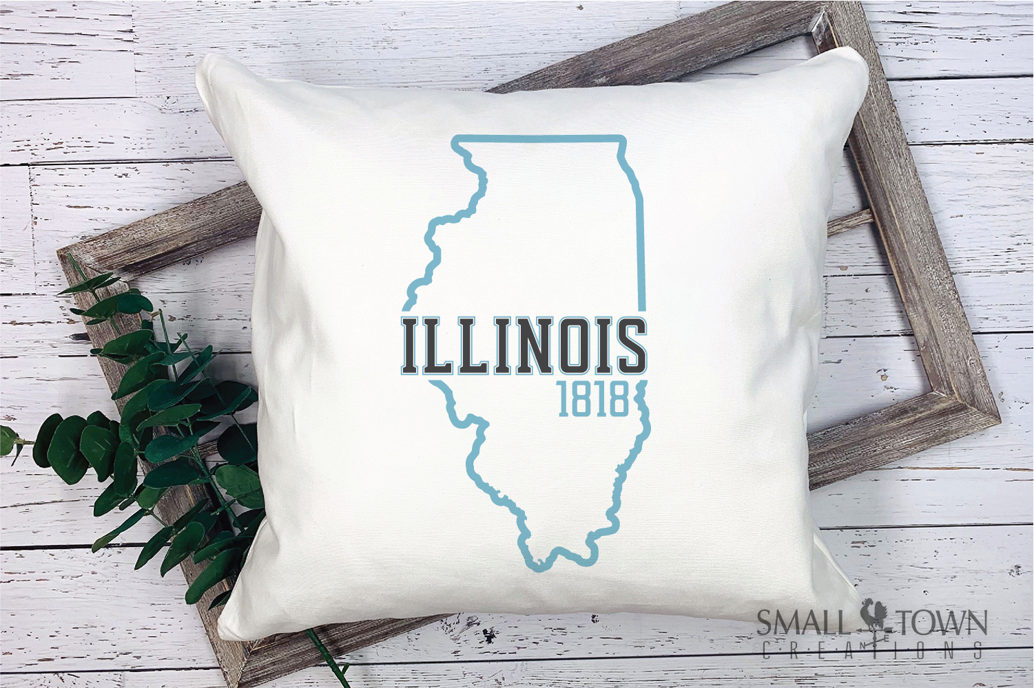 Illinois, Land of Lincoln-slogan, Logo, PRINT, CUT & DESIGN example image 9