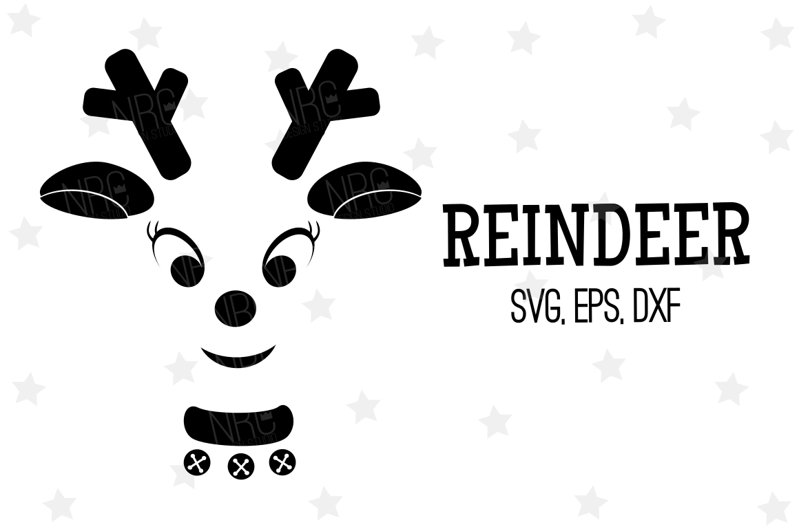 Reindeer SVG File, Silhouette example image 1