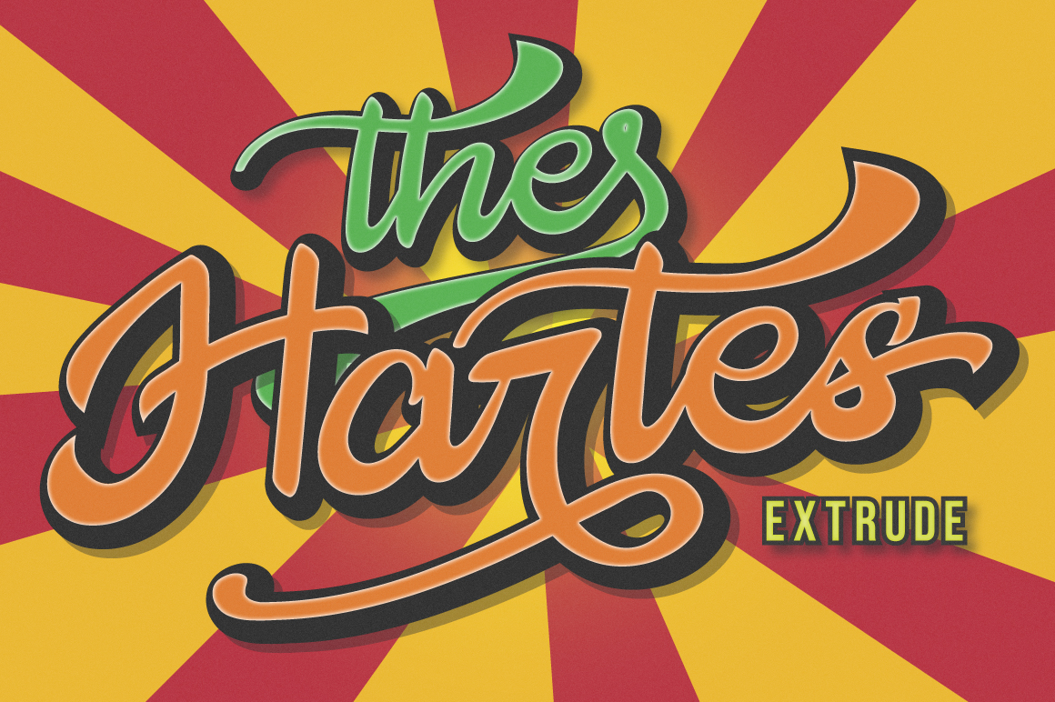 The Hartes Extrude Font example image 1
