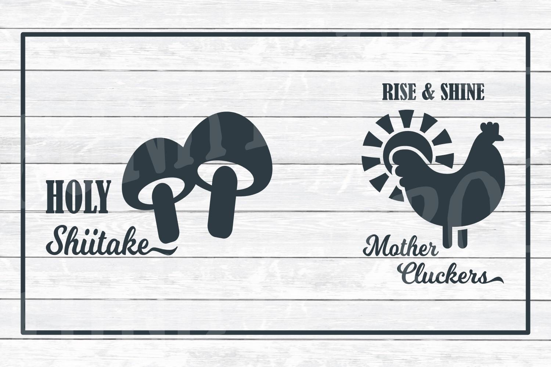 Kitchen Art Design Bundle 1- SVG Cut Files for Crafter example image 5