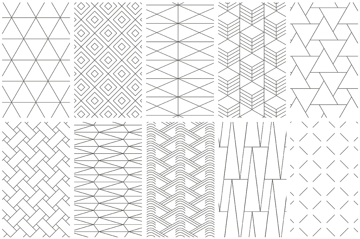 simple line geometric patterns by youan design bundles