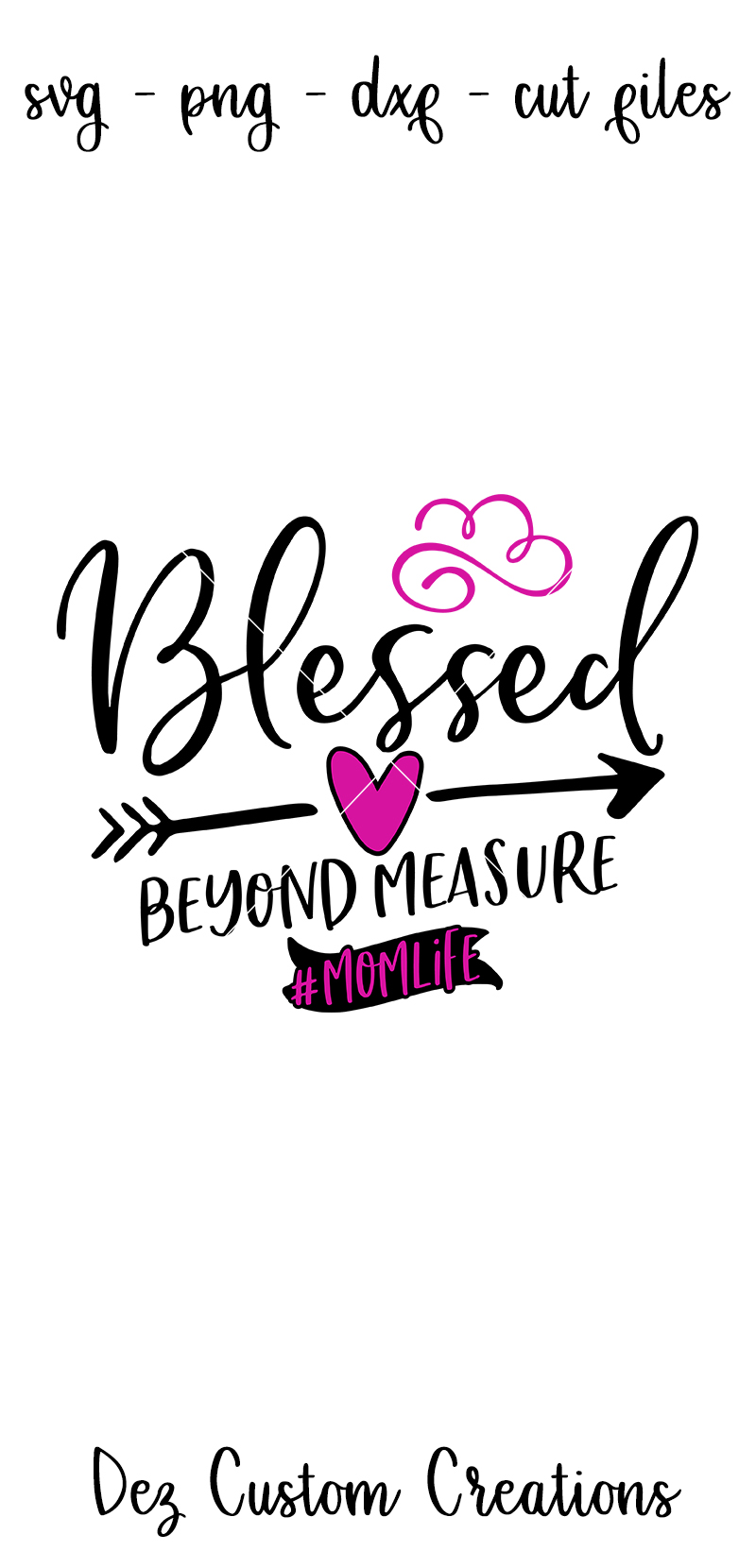 Blessed Beyond Measure - SVG DXF PNG File example image 4