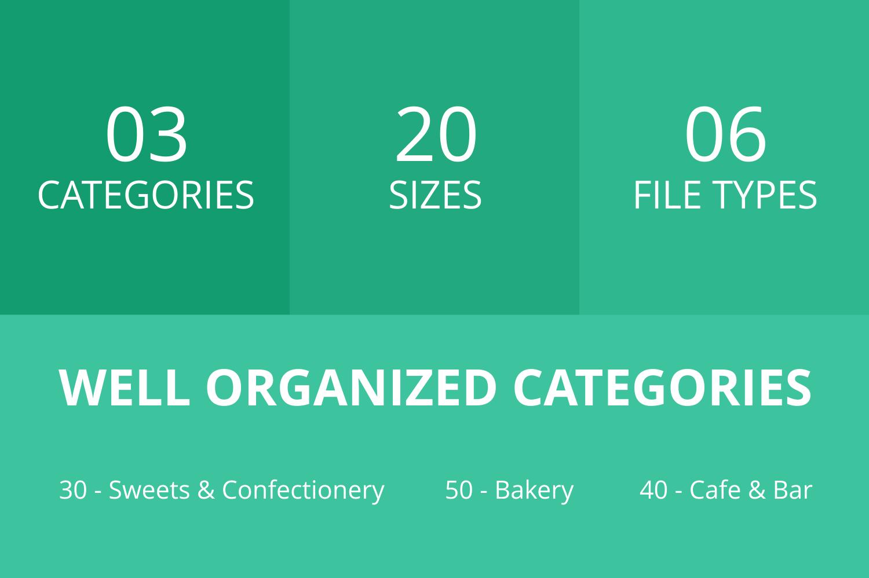 120 Sweets & Bakery Flat Icons example image 3