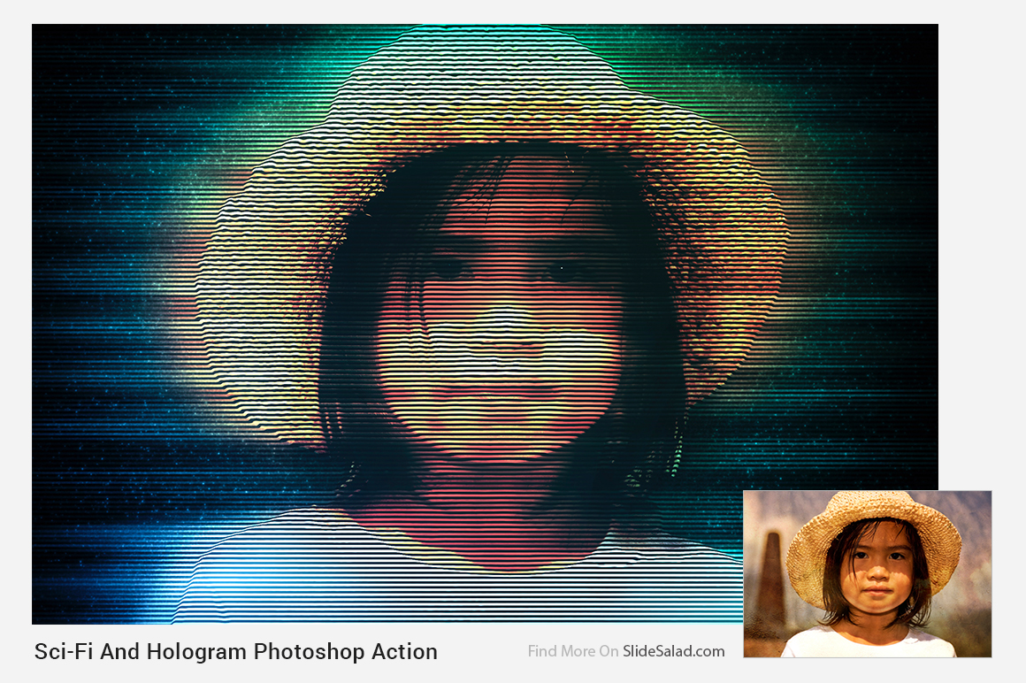 Sci-Fi And Hologram Photoshop Action example image 13